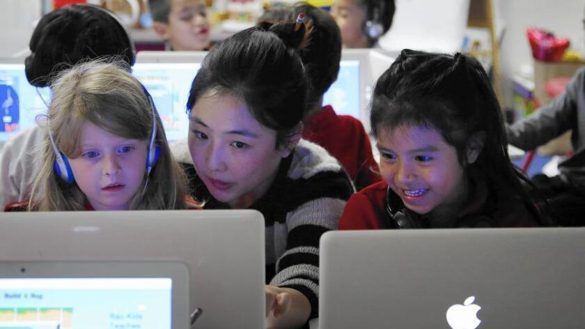 Foto de archivo de una escuela Chárter en Los Ángeles.