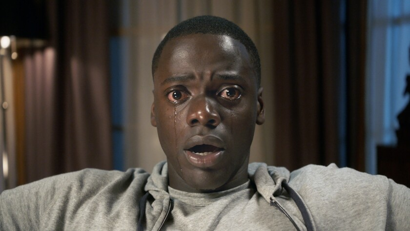 "Daniel Kaluuya as Chris Washington in ""Get Out."" The 2017 horror film will be screened March 13 in the Comic-Con Museum."