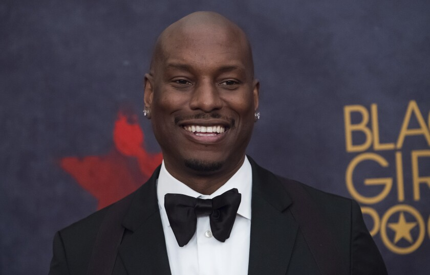 FILE - Tyrese Gibson attends the Black Girls Rock! Awards on Aug. 5, 2017, in Newark, N.J. Photo by Charles Sykes/Invision/AP, File)