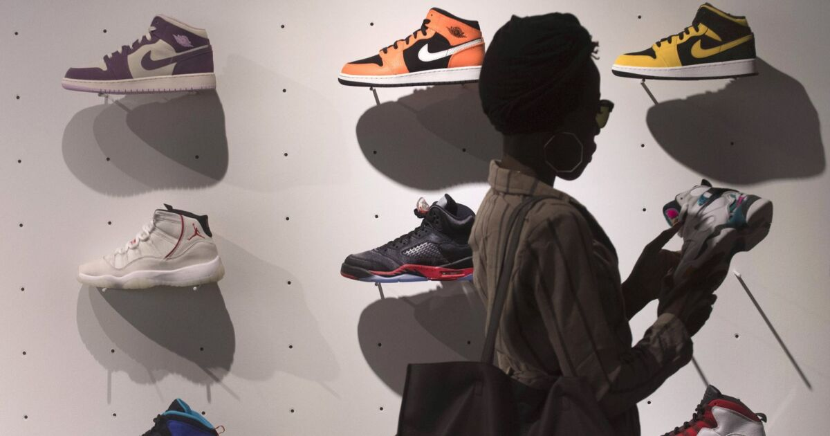 82dc96cbd2 Those Nikes — buy, sell or hold? Sneakers are now assets trading like  stocks - Pacific San Diego