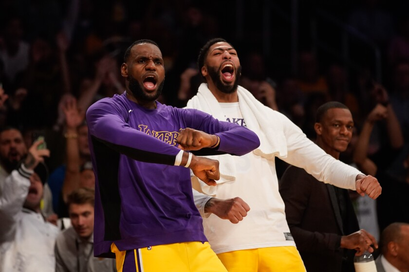 LeBron James and Anthony Davis have had plenty to cheer about this season, including a current six-game winning streak.