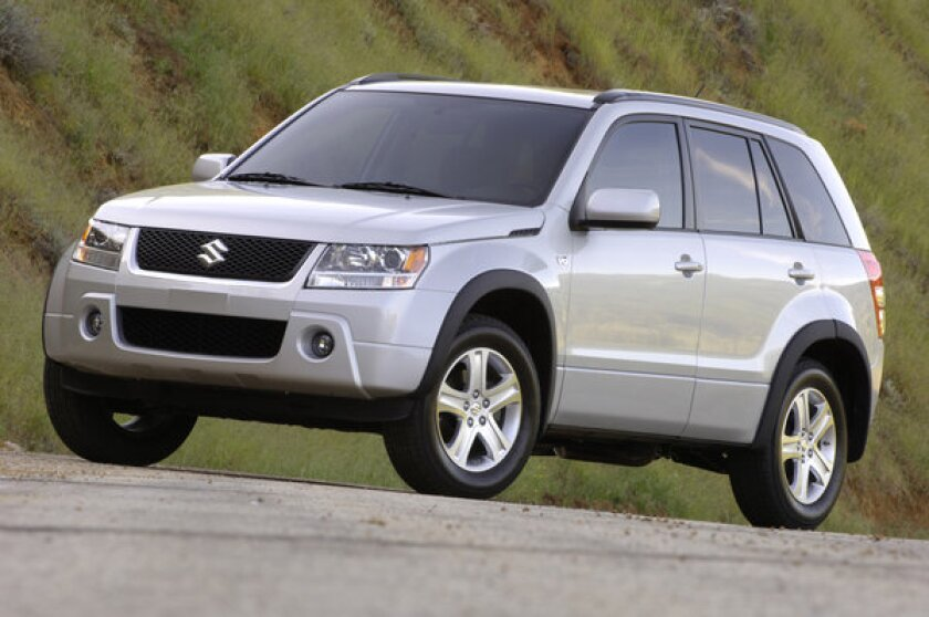 This 2006 Suzuki Grand Vitara is one of nearly 200,000 vehicles recalled to fix an issue with the airbag sensors.