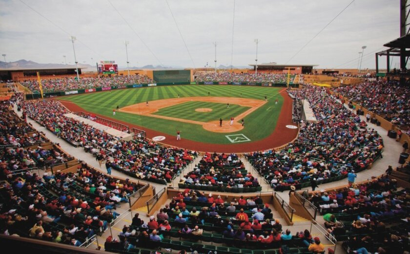 The Padres will be at Salt River Fields near Scottsdale, Ariz., on March 19 to play the Diamondbacks and on March 23 to meet the the Rockies.