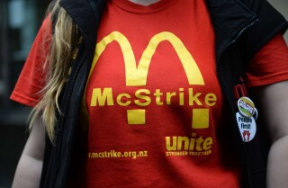 Fast-food workers rally for higher wages