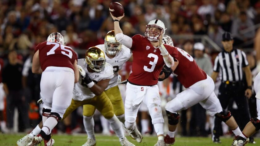 Stanford quarterback K.J. Costello moved into the starter's role one week after the team's loss to San Diego State last season, then guided the Cardinal to the Pac-12's North Division title.