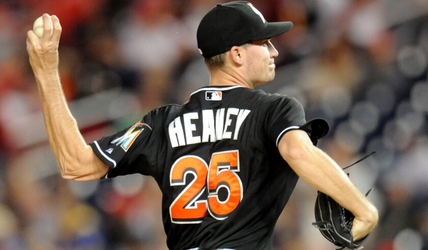 Andrew Heaney was 0-3 with a 5.83 earned-run average in seven major league games last season with Miami.