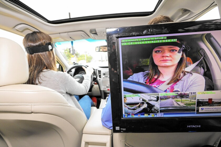Researchers used special test vehicles, heart-rate monitors and other equipment to measure how much mental distraction vehicle phone systems generated.