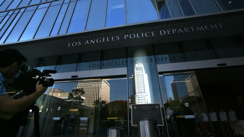 The Los Angeles Police Department headquarters.