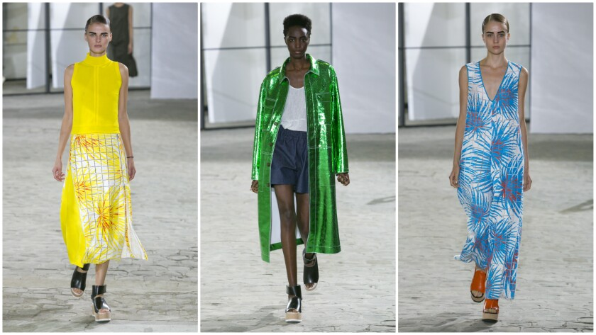 Looks from the Spring/Summer 2017 Gauchère collection presented during Paris Fashion Week