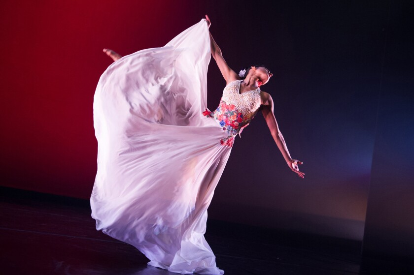 """Ballet Hispánico will perform """"Con Brazos Abiertos"""" and other works by Latina choreographers in a two-night engagement at the Broad Stage in Santa Monica."""