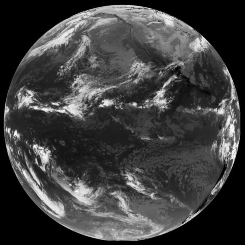 GOES-15 took its first operational full disk images on Dec. 6, 2011. The image above was captured in native grayscale infrared. GOES-15's water vapor channel has major improvements over its predecessor on GOES-11 (the previous GOES-West).