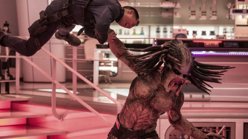 """A scene from """"The Predator,"""" the fourth film in the long-running action franchise."""