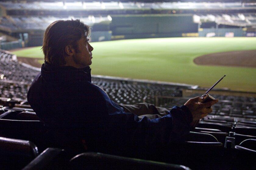 "Brad Pitt portrays Oakland Athletics general manager Billy Beane in ""Moneyball."" Melinda Sue Gordon • Columbia TriStar Marketing Group"