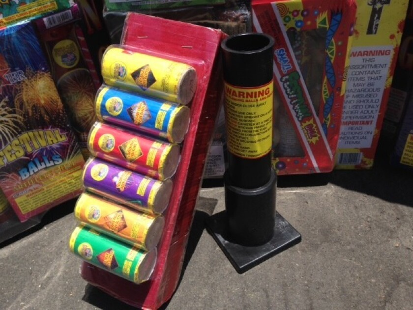 Fireworks confiscated by police