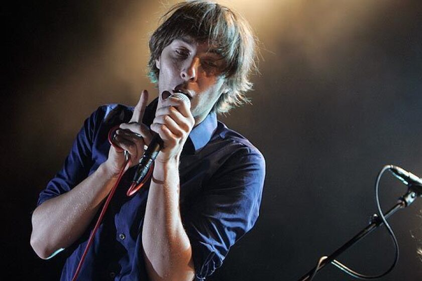 Thomas Mars of Phoenix in a 2009 performance at the Greek Theatre in Los Angeles. Phoenix will headline day two of the 2013 Coachella Music and Arts Festival in Indio.