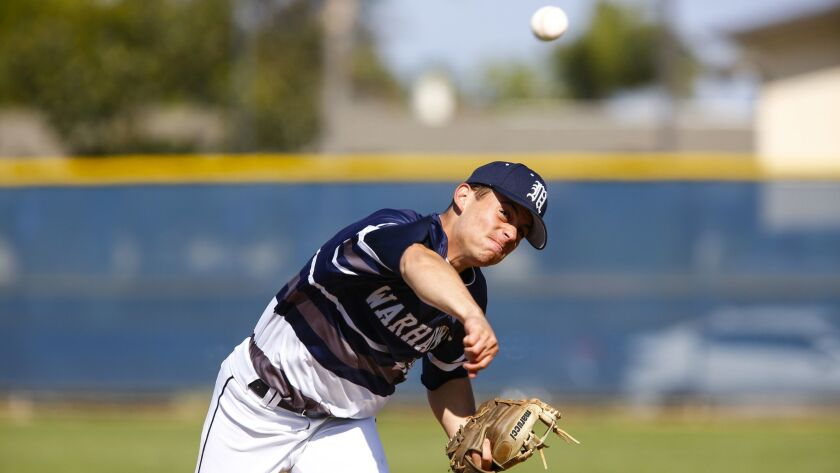 Madison pitcher David Lantz throws during the third inning against La Costa Canyon.