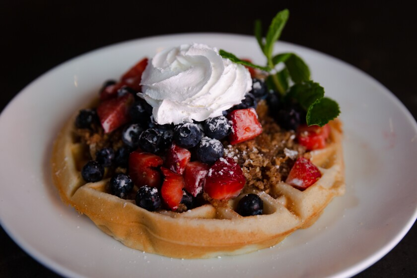 Blueberry Baklava Waffle