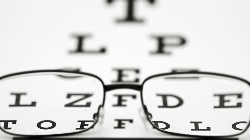 Snellen Eye Chart and Glasses ** OUTS - ELSENT, FPG - OUTS * NM, PH, VA if sourced by CT, LA or MoD