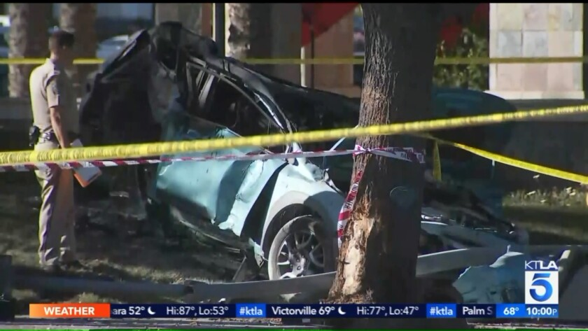 6-year-old girl killed in fiery crash in Stevenson Ranch, CHP says