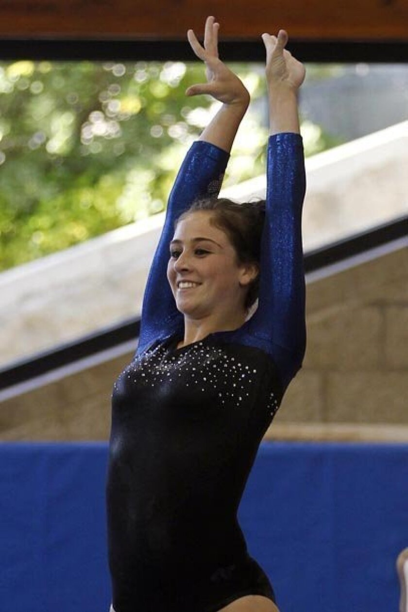 West Hills sophomore Tori Anderson was the optional all-around champion.