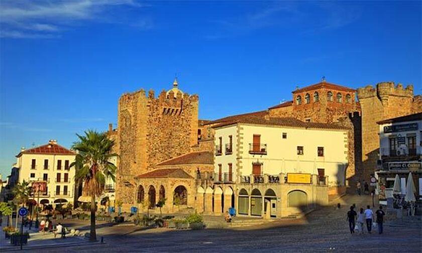 Plaza Mayor in Cáceres.
