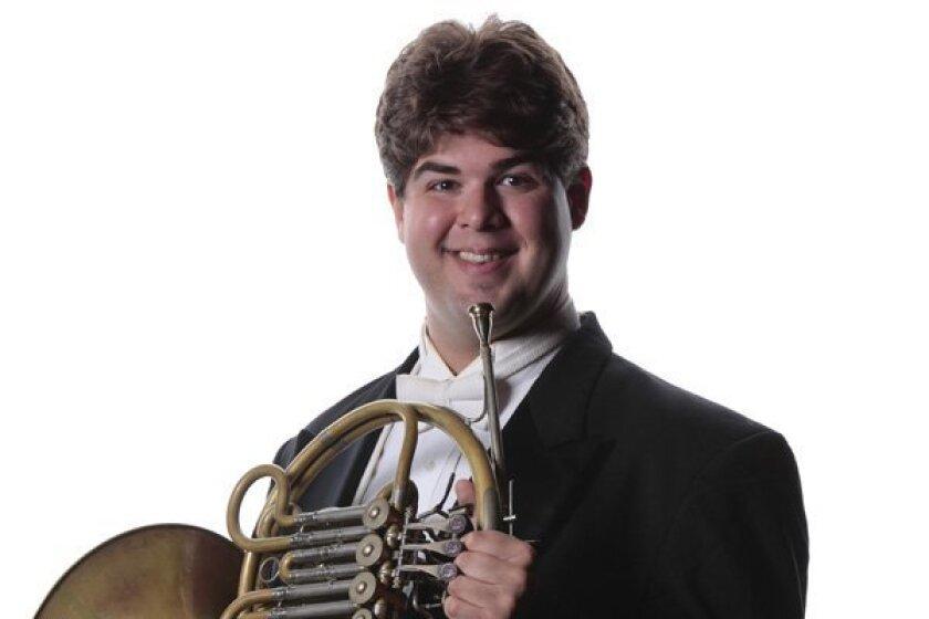 San Diego Symphony principal French horn Benjamin Jaber.
