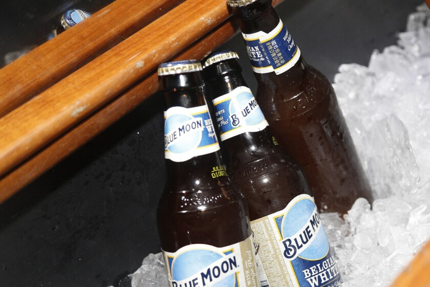 The blind-daters were chauffeured in a limo stocked with Blue Moon Belgian White.