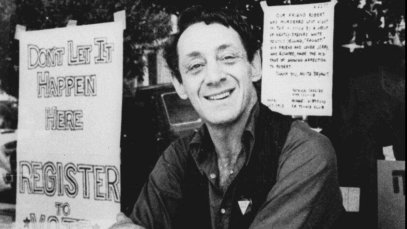 """Distinguished scholar of LGBT and ethnic history, La Jolla-based author Lillian Faderman has explored Harvey Milk's multiple identities in her new book, """"Harvey Milk: His Lives and Death,"""" out this May."""