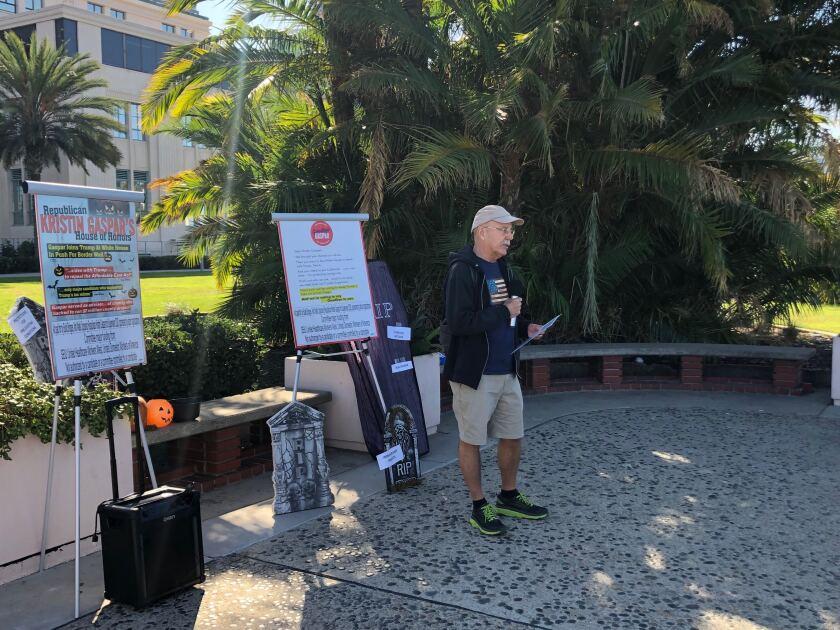 Oceanside resident Gus Hawthorn criticizes Supervisor Kristin Gaspar
