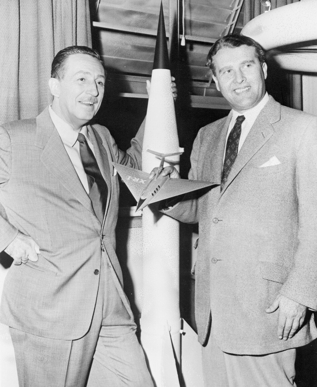 Marshall Center Director Dr. Wernher Von Braun with Walt Disney