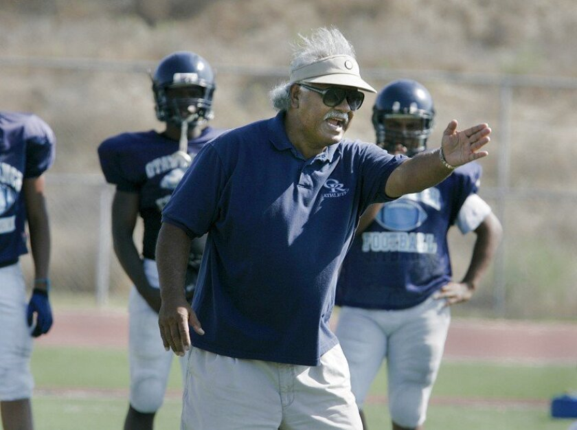 Football coach Gene Alim returned to Otay Ranch High School in Chula Vista this year. Alim has more than 100 wins in the San Diego Section.