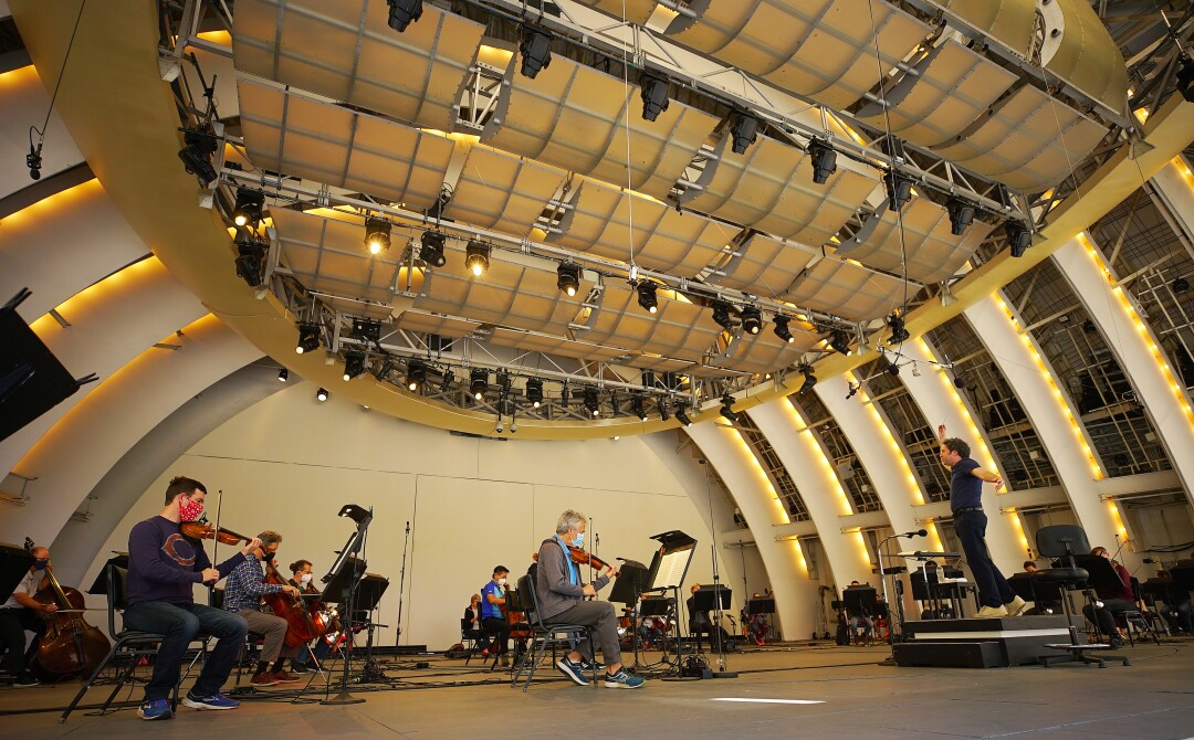 A wide view of rehearsal