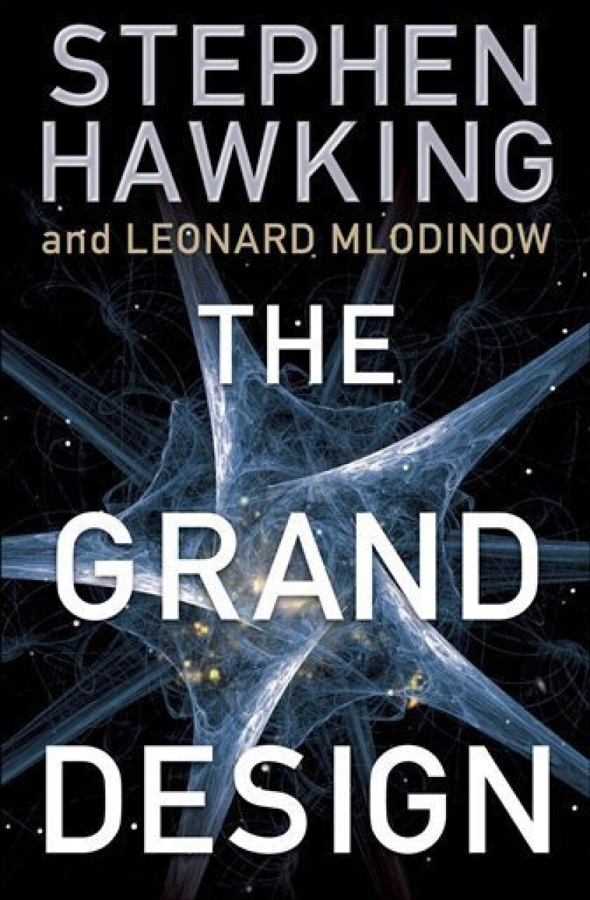 """In this book cover image released by Random House, """"The Grand Design"""" by Stephen Hawking and Leonard Mlodinow is shown. (AP Photo/Random House)"""