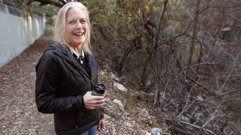 Caroline Craven, of La Canada Flintridge, on the Flint Canyon Trail on Monday, December 17, 2018. Cr