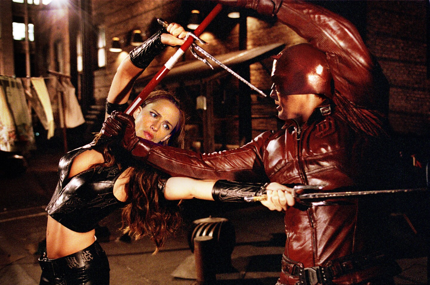 """After high-profile relationships with Gwyneth Paltrow and Jennifer Lopez, Ben Affleck met his future wife, Jennifer Garner, on the set of """"Daredevil,"""" a 2003 Marvel Comics-inspired film in which the two costarred."""