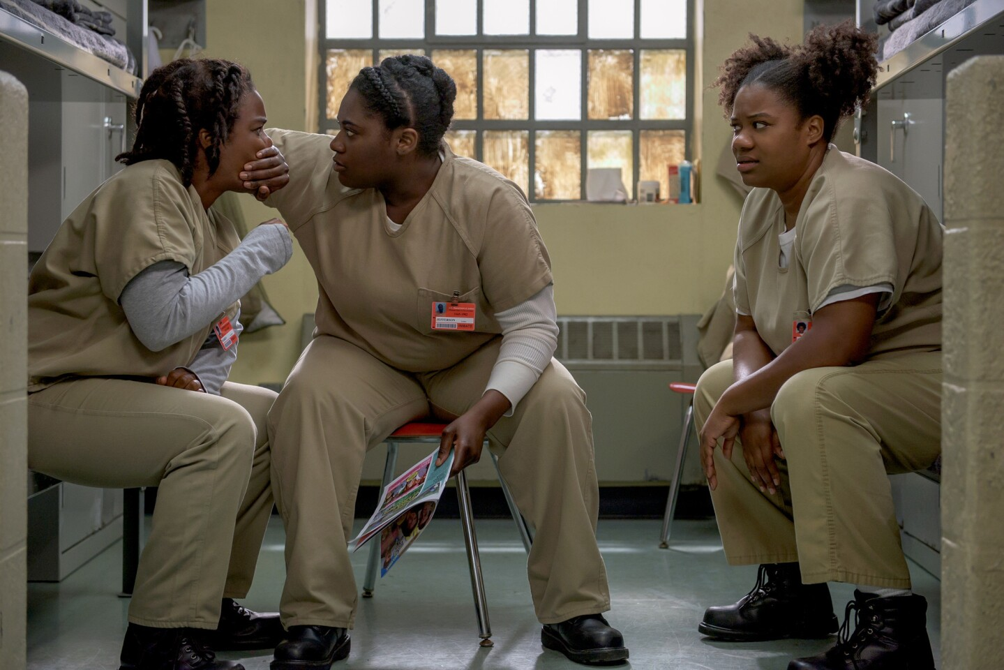 """Images from Season 4 of the Netflix series """"Orange Is the New Black"""" hint at a darker tone."""