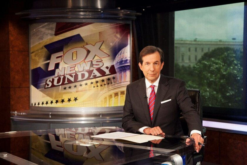 """This photo provided by FOX News Channel shows Chris Wallace, who marks his 10 year anniversary hosting """"FOX News Sunday"""" this weekend. (AP Photo/FOX News Channel)"""
