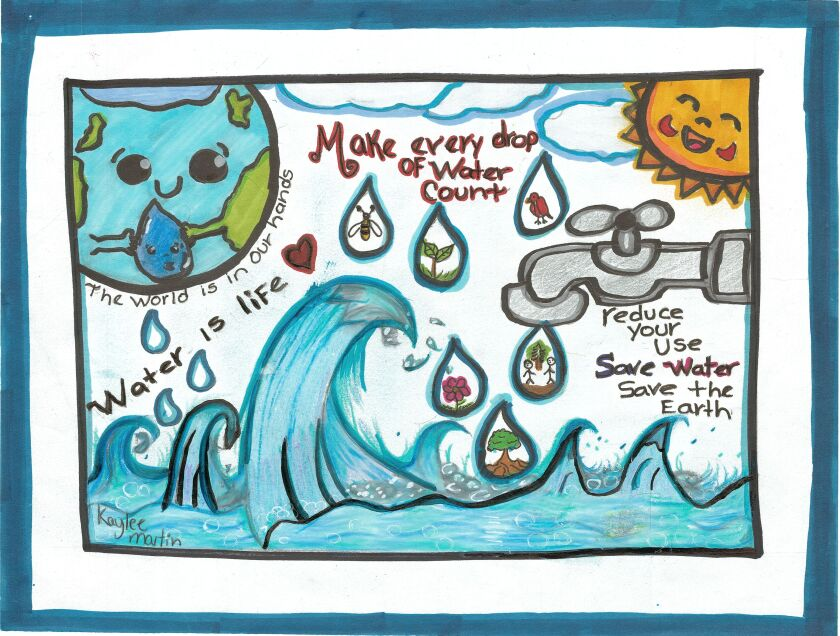 Kaylee Martin from Highlands Elementary, won the grades 4-8 poster contest from Helix Water District.