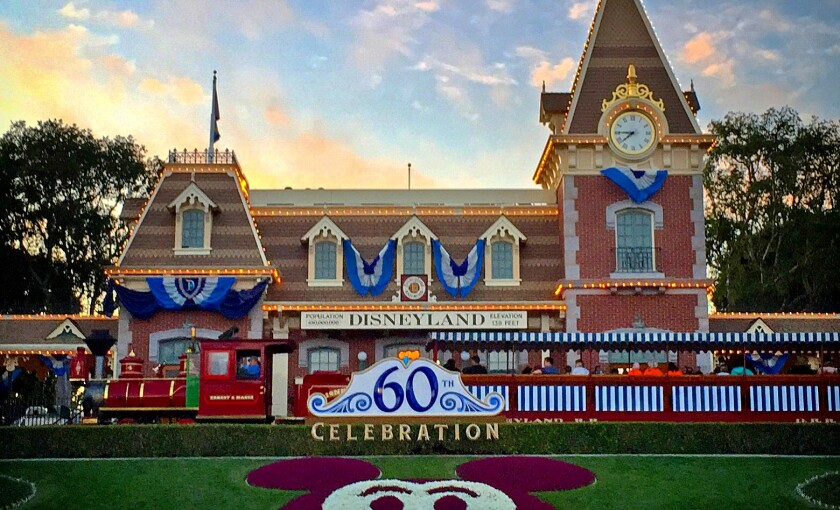 Disneyland dressed up for its 60th anniversary in Anaheim.