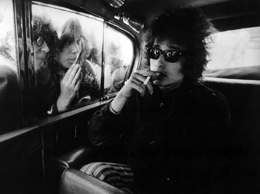 Bob Dylan and fans.