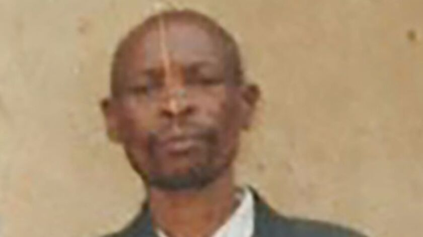 Jean Kanyesoko, 64, a poor farmer with five children to feed, was shot by soldiers after he was caug