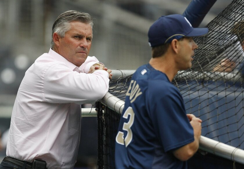 Kevin Towers' 14-year tenure as general manager of the Padres has come to an end. (Sean M. Haffey / Union-Tribune)