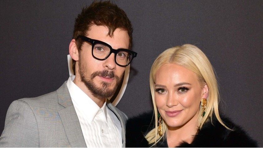 Matthew Koma and Hilary Duff at a Golden Globes after-party in January 2019.