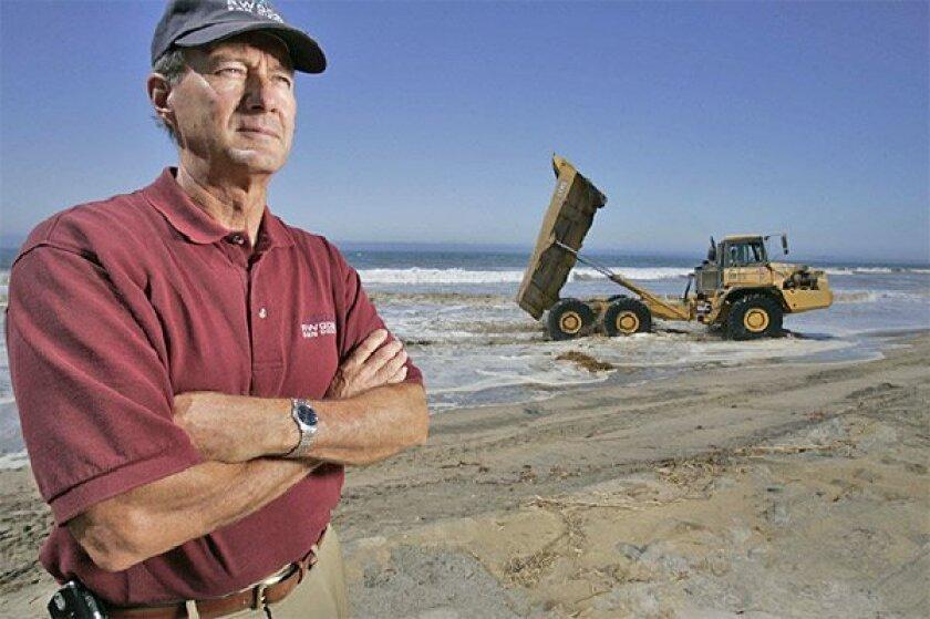 Before he retires in a few months, John Robertus is working to  improve the Tijuana River's water quality. (John Gibbins / Union-Tribune)