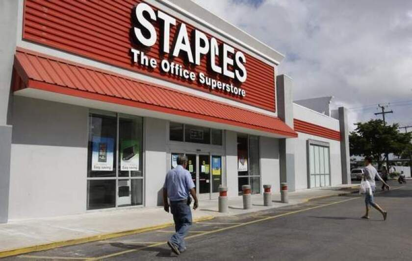 Staples said it would close up to 225 stores to save costs.