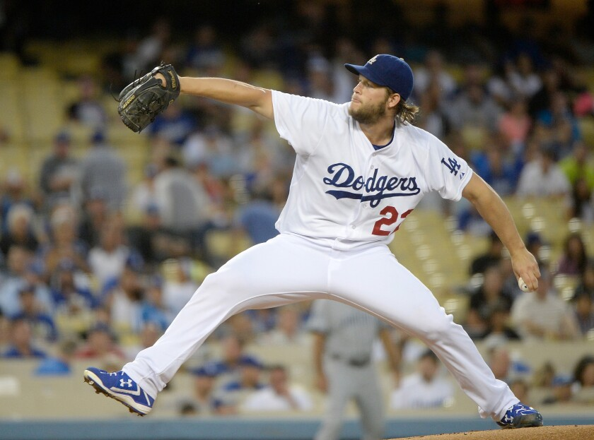 Dodgers pitcher Clayton Kershaw won his third National League Cy Young Award and first NL MVP last season.