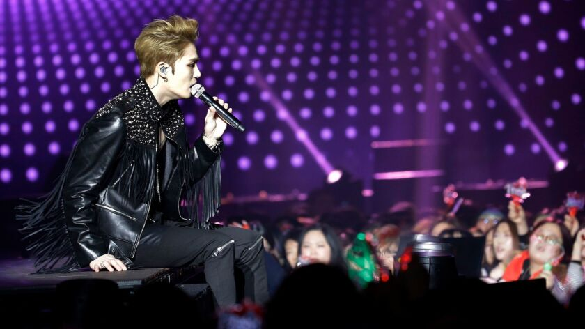 Kim Jae-joong of the South Korean K-pop group JYJ performs in Seoul on Jan. 22. South Korean pop culture is one of the country's most important exports.