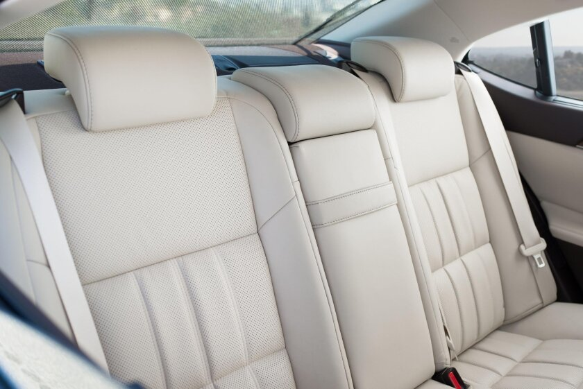 The back seat has choice accommodations, with 40 inches of legroom and a very low center tunnel.