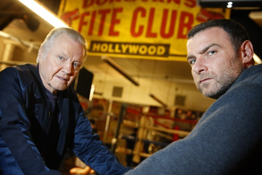"""Jon Voight, left, and Liev Schreiber, costars in the Showtime series """"Ray Donovan,"""" were both nominated for Golden Globes Awards."""