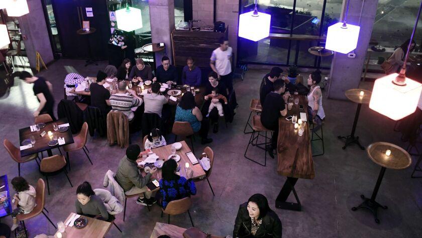 LOS ANGELES, CA-March 3, 2019: Kasih restaurant on Saturday, March 2, 2019. (Mariah Tauger / Los Ang